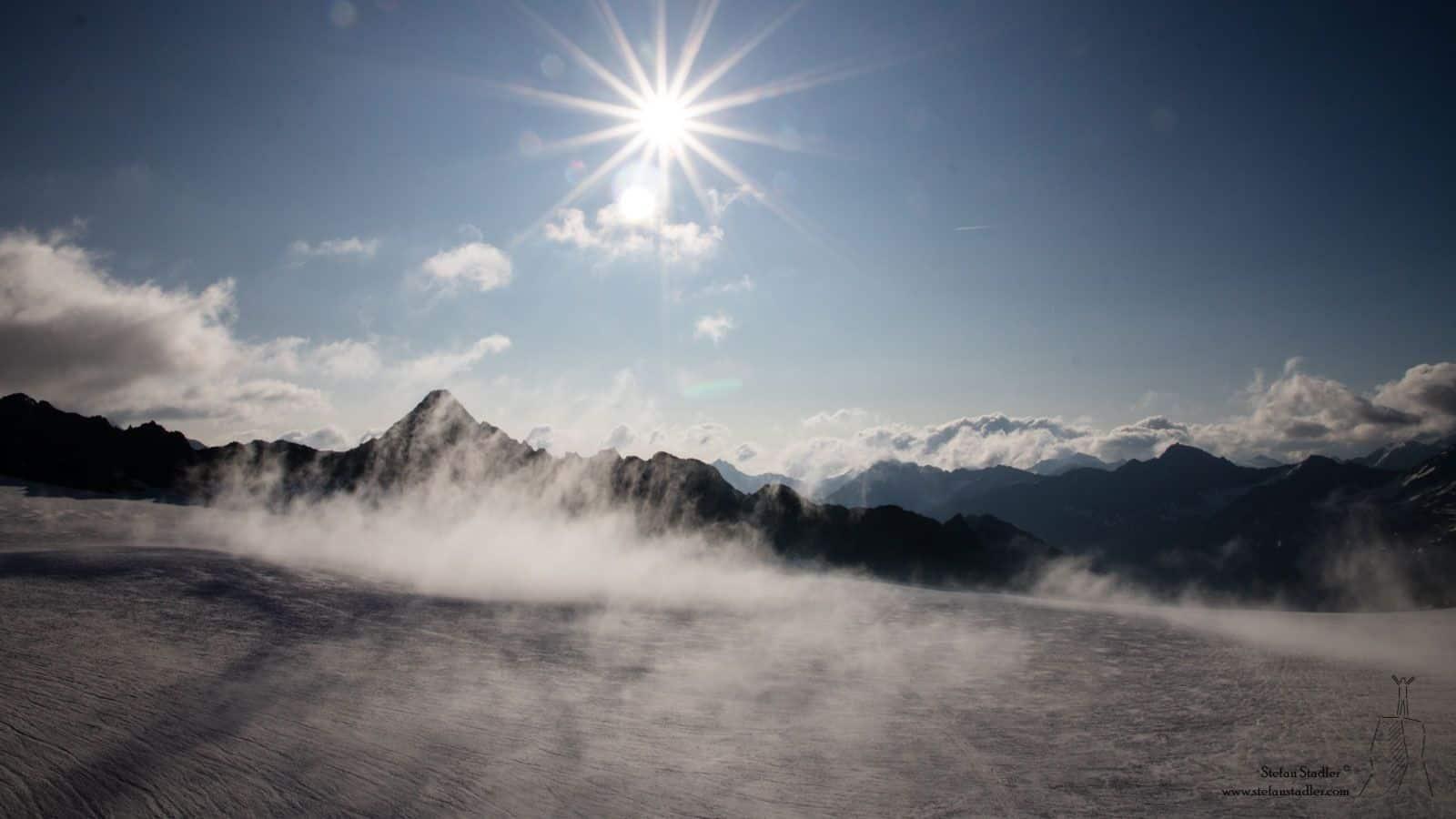 die Sonne vertreibt den letzten Nebel schnell