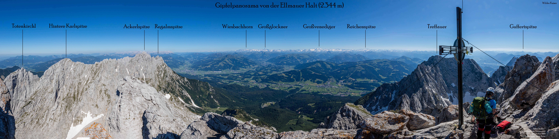 360 Grad Rundblick im Wilden Kaiser