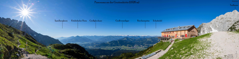 Panorama bis an den Alpenhauptkamm