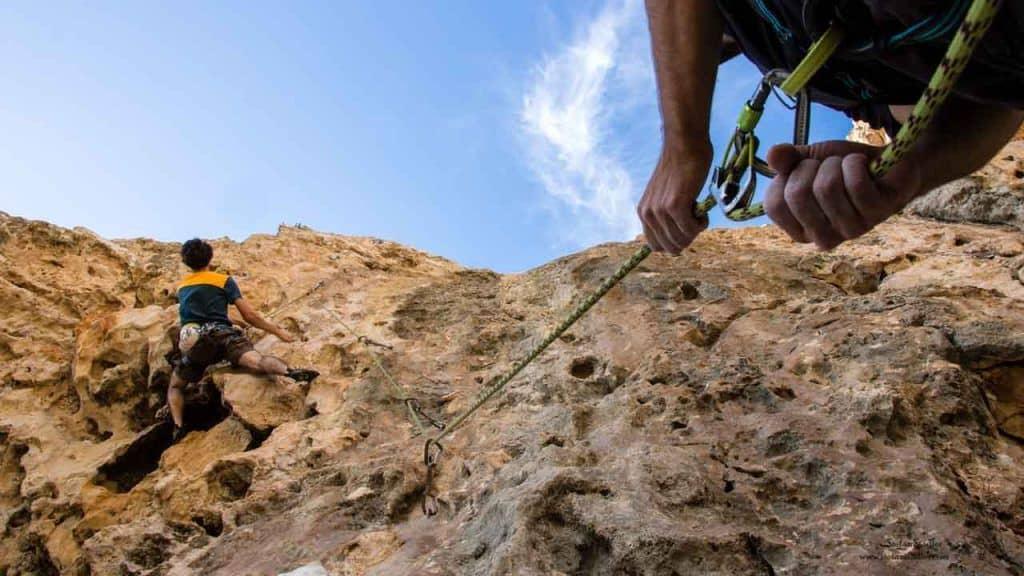 Sinter Klettern