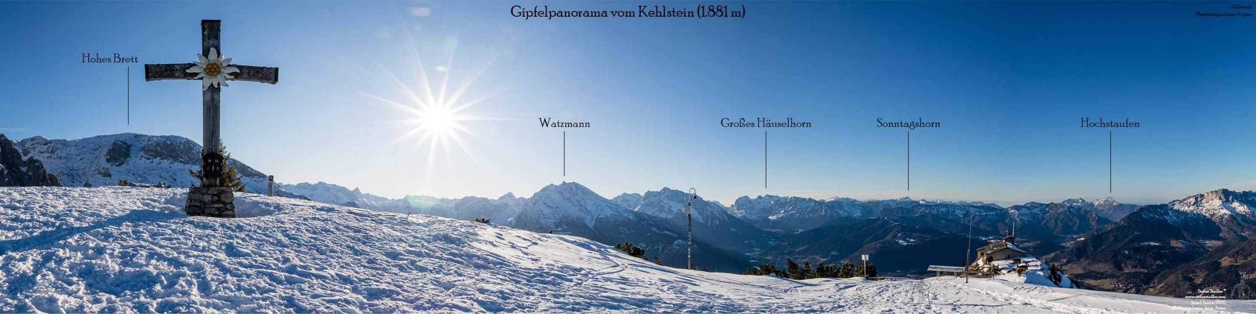 Gipfelpanorama bei Berchtesgaden