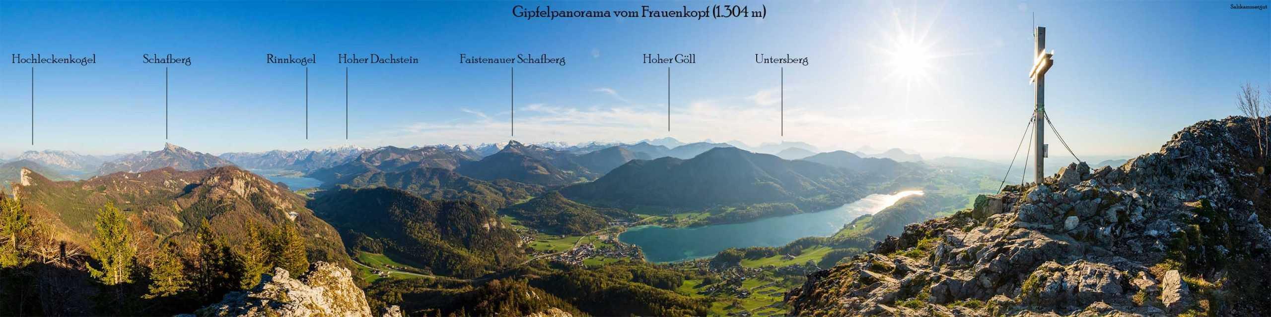 360 Grad Rundumblick im Salzkammergut